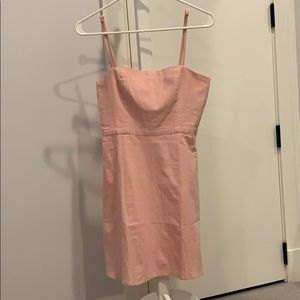 Pink Linen dress by by the way. Size xs